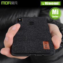 Xiaomi mi 8 SE 6X A2 5X A1 6 чехол MOFI из холщовой ткани с мягкой телефон сумка задняя Чехлы Для Сяо mi Note 3/mi x 2 s/макс 3