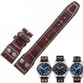Aotu venda de reloj de piel de becerro piel correa de reloj venda de reloj para iwc gran Piloto Mens Ceñe el Cuero auténtico Correa de Reloj 22mm + Herramientas Gratuitas