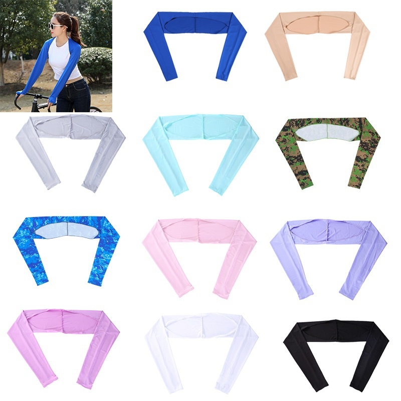 Women Shawl Cuff Gloves Golf Shawl Sleeves Ice Silk Sunscreen Sleeves Summer UV Protection Clothing For Outdoor Activity