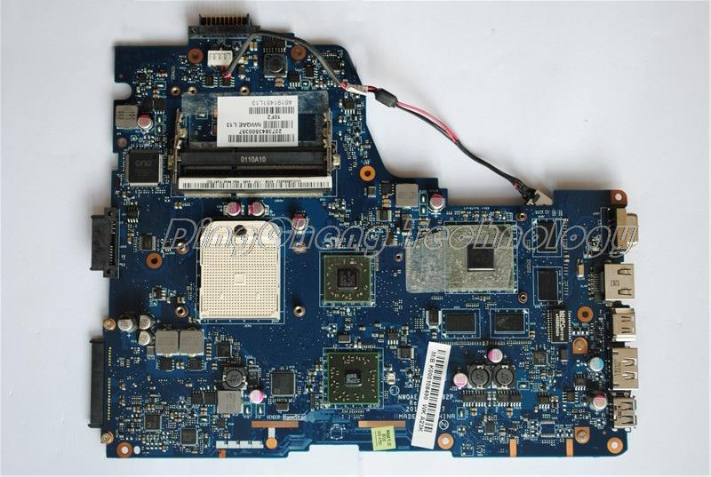 SHELI laptop Motherboard For Toshiba Satellite A660D A665D K000108490 NWQAE LA-6192P DDR3 non-integrated graphics card