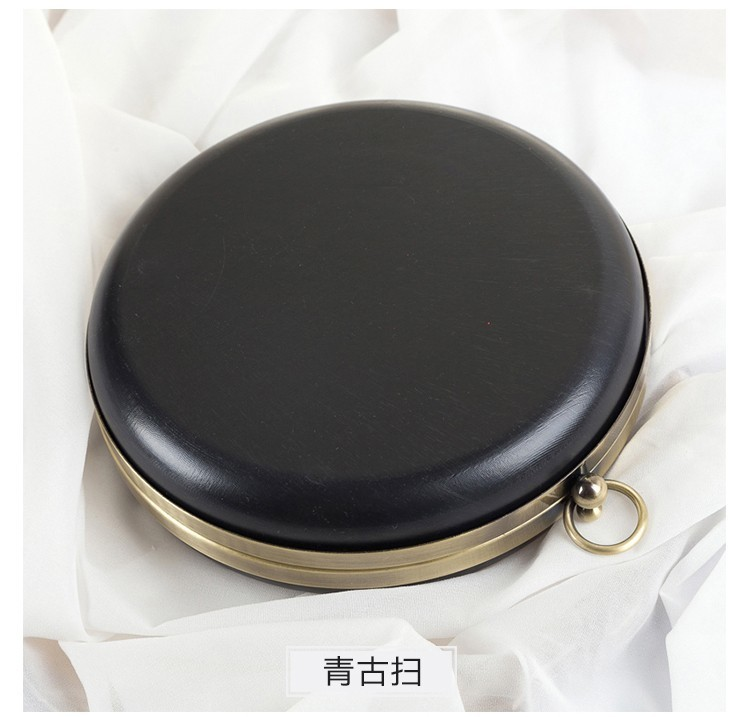 14cm/18cm Round Bag Box Material Bronze Head Coin Purse Frames Diy Accessaries Purse Bag Frame Kiss Clasp Plastic Purse Frame