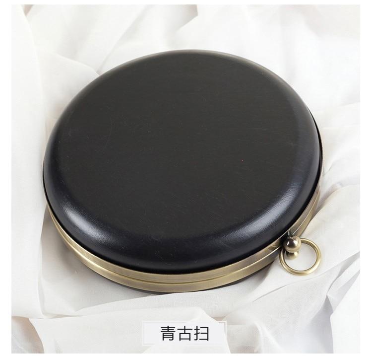 14cm/18cm Round Bag Box Material Bronze Head Coin Purse Frames Diy Accessaries Purse Bag Frame Kiss Clasp Plastic Purse Frame