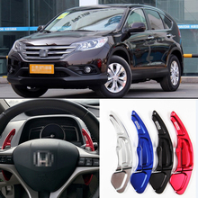цена на tommia 2pcs Steering Wheel Aluminum Shift Paddle Shifter Extension For Honda CRV 2009-2013 Car-styling