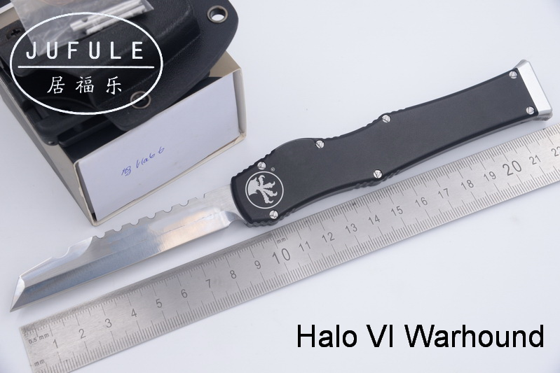 JUFULE Made Warhound Halo VI 6 D2 blade aluminum handle camping survival outdoor EDC Tactical hunting tool dinner kitchen knife dicoria made halo iv 4 troodon d2 blade aluminum handle camping hunting survival outdoor edc tool dinner kitchen knife set