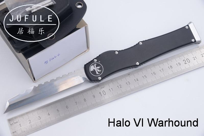 JUFULE Made Warhound Halo VI 6 D2 lama della maniglia di alluminio di campeggio di sopravvivenza all'aperto EDC Tattica di caccia strumento cena coltello da cucina