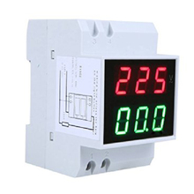 Cheapest prices THGS Digital Din-Rail LED Voltage Ammeter Current Meter Voltmeter AC80-300V 0.2-99.9A Dual Display
