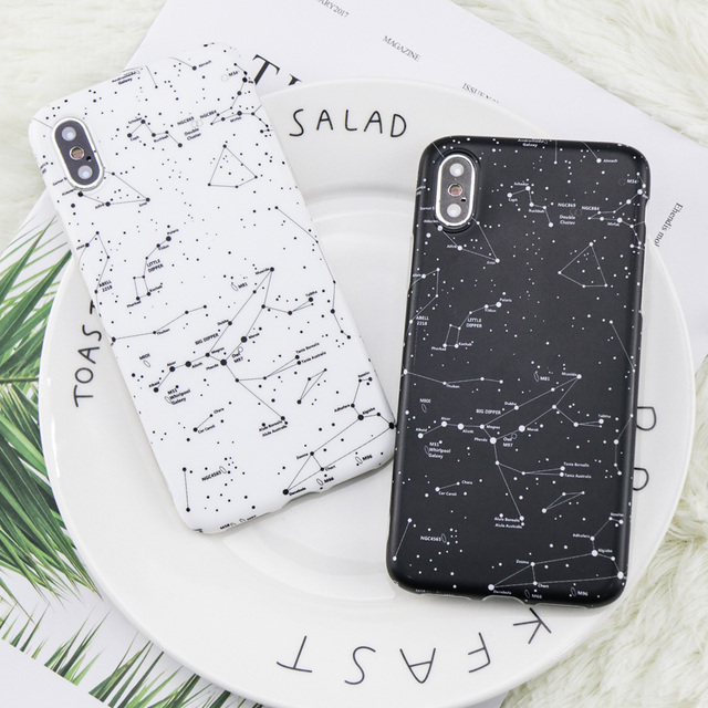 Fashion Starry Sky Case For Apple iphone X Case DILLON GUAN galaxy painted Soft TPU Case Cover for iphone 6S 6 7 Plus Case Coque