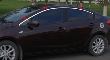 6 Pcs In Acciaio Inox Finestra Trim Copertura Esterna Decorazione Del Corpo Per KIA K3 del Bicromato di Potassio Dell'automobile-Prodotti Per Lo Styling Accessorio