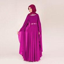 Türkische Langarm Moderne Kaftan Muslimischen Abendkleid 2017 Islamischen Hijab Formale Gelegenheits-kleid Mit Kristall Für Besondere Anlässe