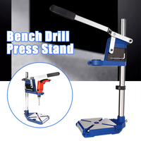 Drill Bench Press Stand Tool Electric Power Bit Holder Clamp Workbench Pillar Pedestal Clamp for Drilling Collet Scale