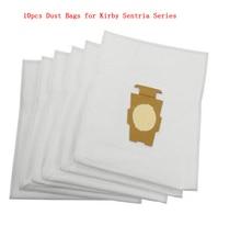 10 unids F Estilo Bolsas para KIRBY Sentria Vacío Universal Micras magia Hepa Paño Blanco Toda la Generación y Sentria Modelos Parte #20481