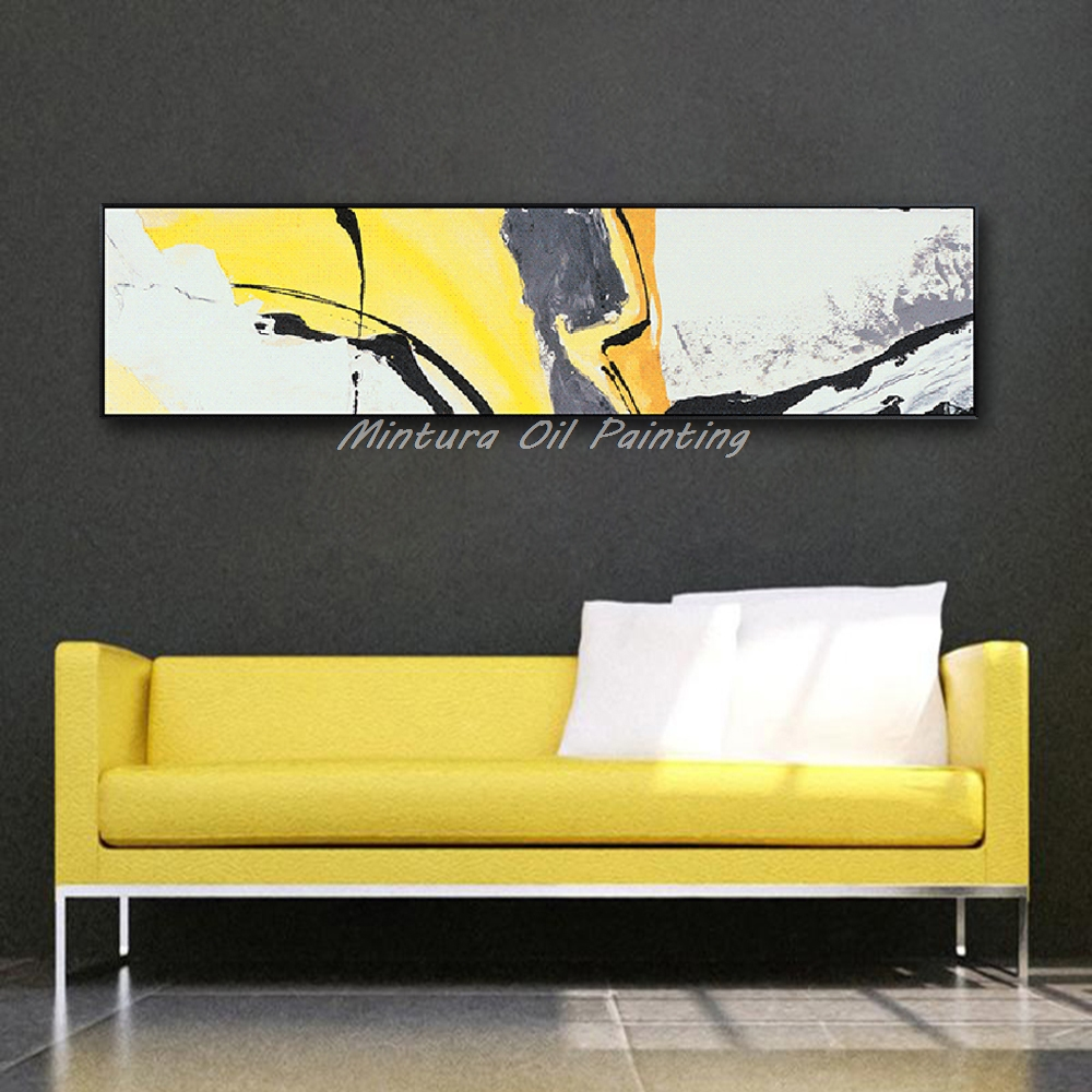 Mintura Art Hand Painted Abstract Oil Painting On Canvas Wall Art ...