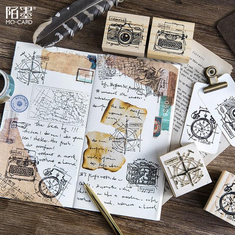vintage kompass geschenk boxen kamera holz stempel diy handwerk holz stempel fur scrapbooking stempel schreibwaren scrapbooking in vintage kompass