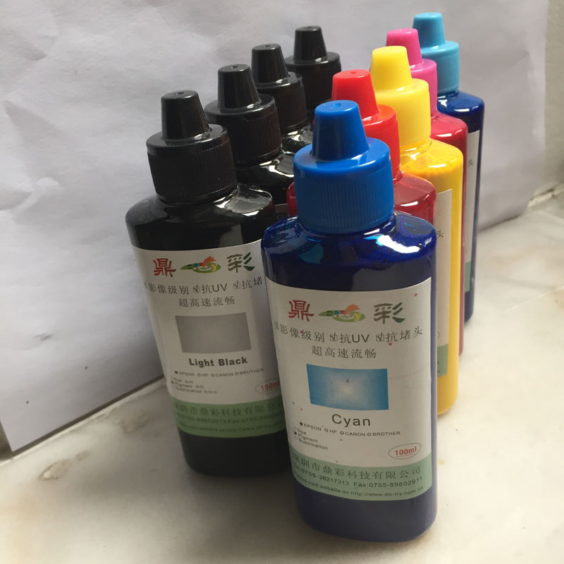 100ML/Bottle 9 Color Universal Pigment Ink For Epson SureColor P600 P800 Stylus Pro 3800 3880 Printer Refill Pigment Ink universal 6 color dye ink for epson 100ml bottle ink r230 r220 r200 t50 1400 1390 r260 r265 r280 printer cartridge