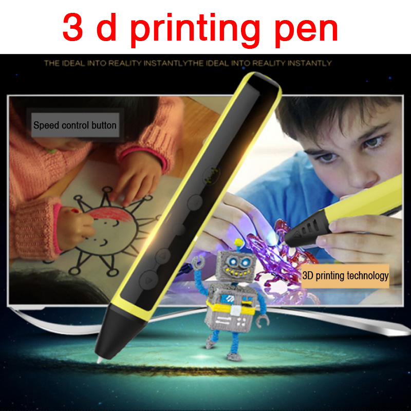 ФОТО 3 d printing doodle gift pen pen 3 d brush children drawing pen children valentine's day gift
