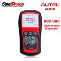 2017 Горячая ABS SRS Scan Tool AUTEL Автоссылка AL619 OBDII автоматический Диагностический Сканер Для ABS Подушки безопасности Нескольких Языков Обновление бесплатно