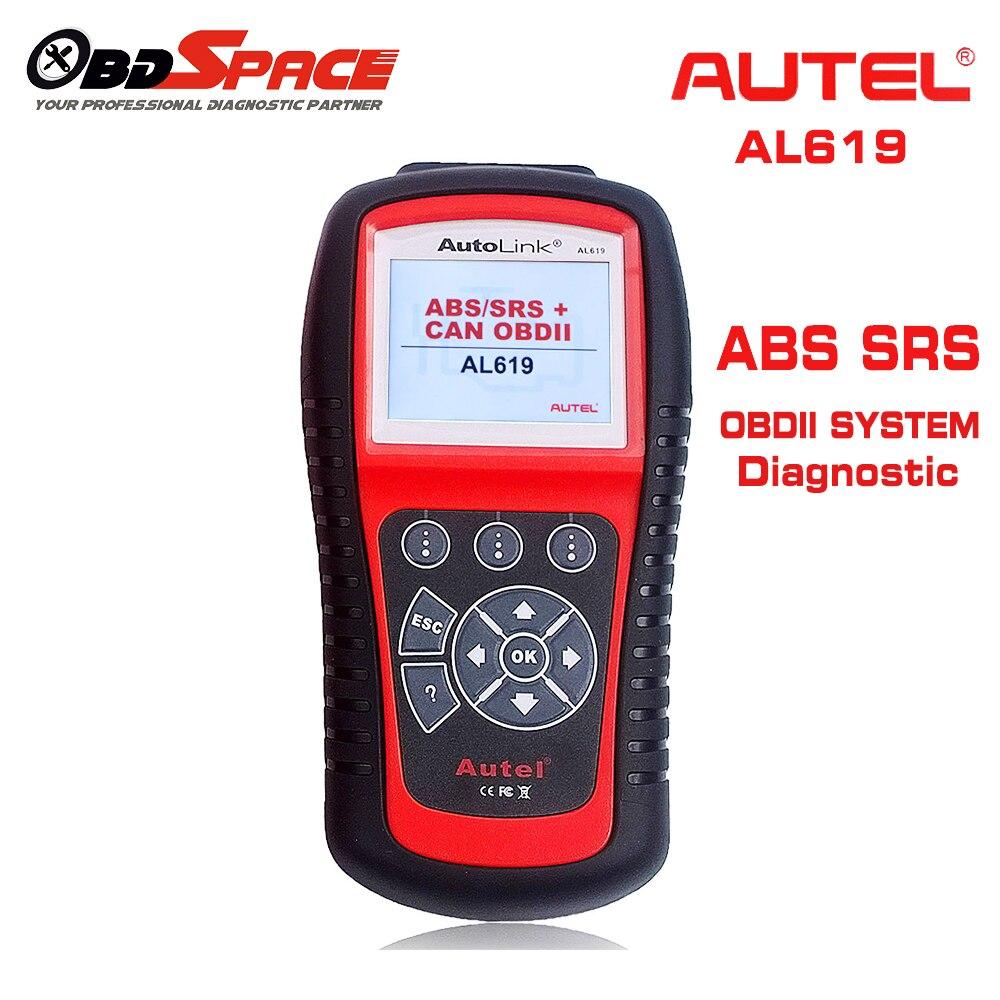 Цена за 2017 Горячие ABS SRS Scan Tool Autel Автоссылка AL619 OBDII автоматический диагностический сканер для ABS подушки нескольких языков обновление Бесплатная