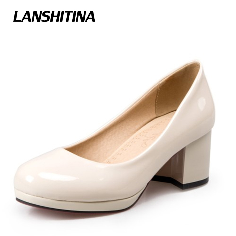 High Heel Shoes Women Pumps Spring Autumn Square Toe Lady Pump Fashion Brand European Style Footwear Heels Shoes Size 33-47 G828 women pumps sexy fashion style high quality high heels square toe square toe spring summer wear slip on comfortable lady shoes