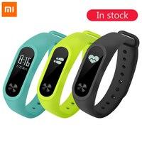 100% Original Xiaomi Mi Band 2 Smart Fitness Armbanduhr Armband Miband OLED Touchpad Schlaf Monitor Herzfrequenz Mi Band2