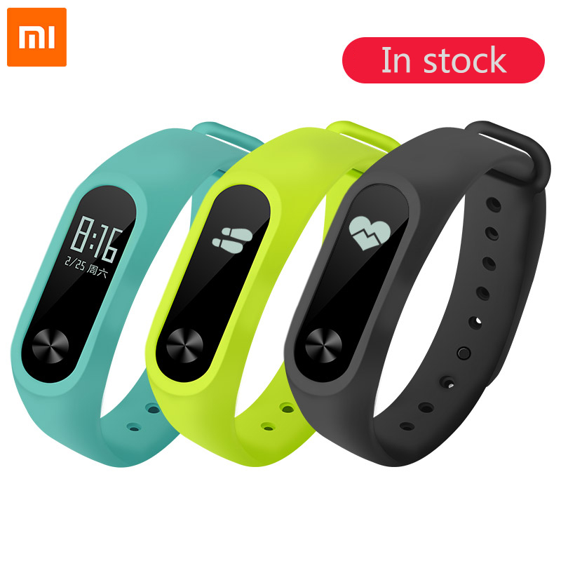 100% Original Xiaomi Mi Band 2 Smart Fitness Bracelet Watch Wristband Miband OLED Touchpad Sleep Monitor Heart Rate Mi Band2