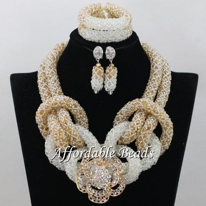 font b Luxury b font African Wedding font b Jewelry b font Sets Popular Nigerian