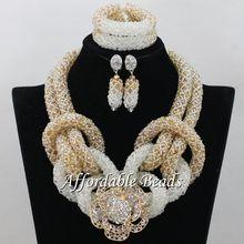 Luxury African Wedding Jewelry Sets Popular Nigerian Beaded Jewelry New Item Wholesale NCD128