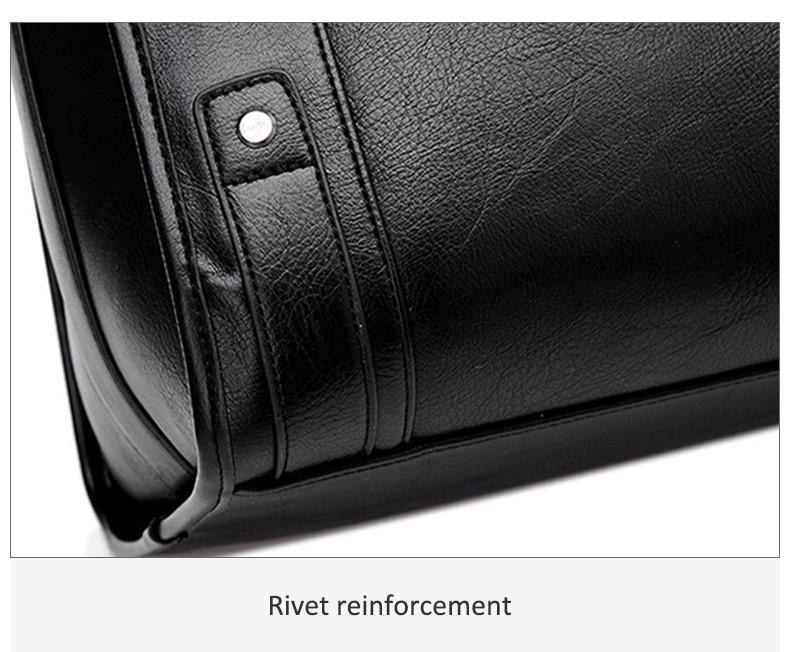 HTB1ae 4J4jaK1RjSZFAq6zdLFXat Men Leather Black Briefcase Business Handbag Messenger Bags Male Vintage Shoulder Bag Men's Large Laptop Travel Bags Hot XA177ZC