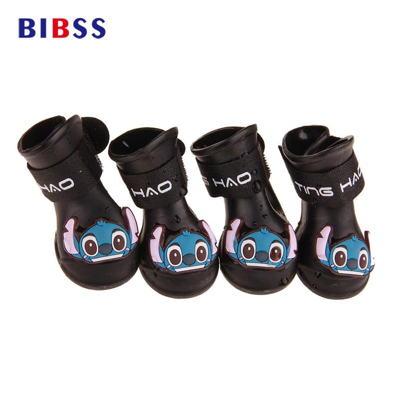 4 Unids / pack Zapatos para Perros Impermeables Lluvia Zapatos de - Productos animales
