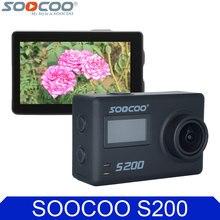 SOOCOO S200 4 K 2.45 Pulgadas de Pantalla Táctil Wifi Cámara de la Acción Control de voz DV Deporte Apoyo Extender Mic y Control Remoto GPS
