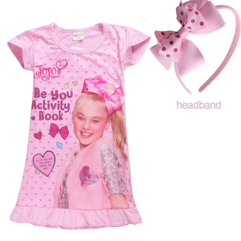 3e1328abcc 2018 Jojo Siwa Pajamas for Kids Baby Girls Sleepwear Top + Pants ...