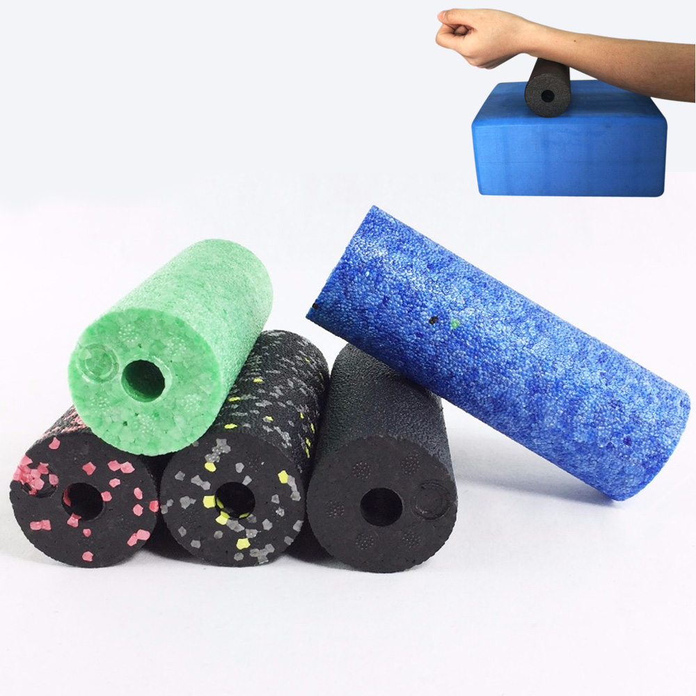 Yoga Foam Roller EPP Yoga Roller Pilates Gym Equipment 5.3*15  EPP Solid Core Motley Pattern Yoga Foam Roller