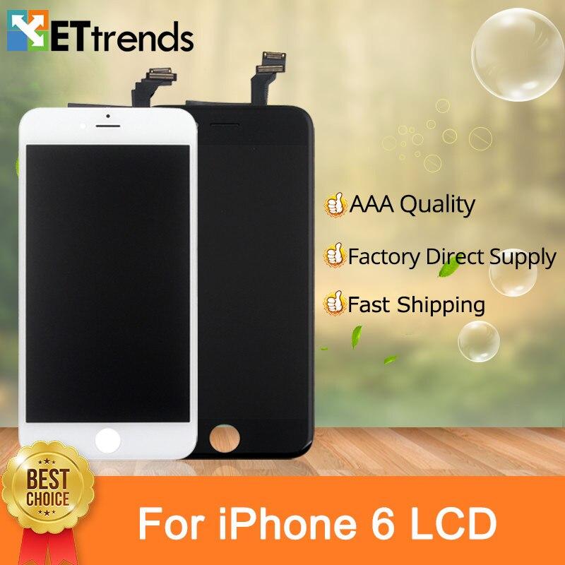 20 PCS/LOT Qualité AAA pour l'iphone 6 écran lcd Tactile Digitizer Écran Complet LCD et Convertisseur Analogique-numérique No Pixel Mort DHL Libèrent Le Bateau