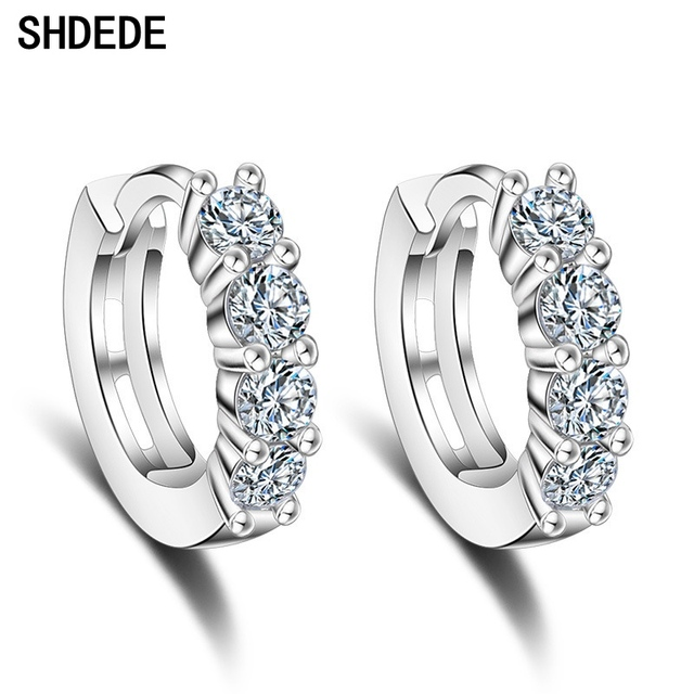 9ed8dafea SHDEDE Small Hoop Earrings Fashion Jewelry For Women CZ Crystal from Swarovski  Party Lady Accessories +