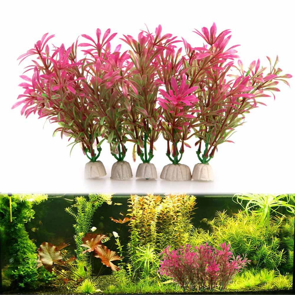 5pcs set fish tank aquarium decoration artificial for Aquarium decoration set