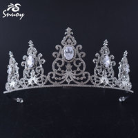 Cubic Zircon Wedding Crown Bridal Wedding CZ Tiara Headpiece