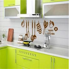 Home Decor Art Vinyl Happy Kitchen PVC Mural Decal Removable Wall Stickers GW-2