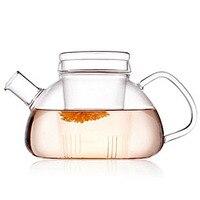 1 ST Hoge kwaliteit Hittebestendig Glas Theepot met Zetgroep Filter Home Office Thee Gereedschap Drinkware Bloem Thee Pot 750 ml JM 1004