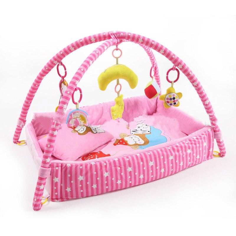 Jeu de musique couverture singe bébé Pad bébé Fitness Rack ramper tapis jouets éducatifs 0-12 mois-1-2 ans bébé Gym tapis de jeu