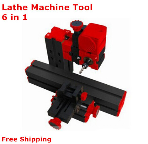 On sale!1 set DIY Mini Lathe Machine 6 in 1, DIY Mini Micro Lathe Machine Tool 6 in 1,  For Wood and Soft Metal adjustable double bearing live revolving centre diy for mini lathe machine