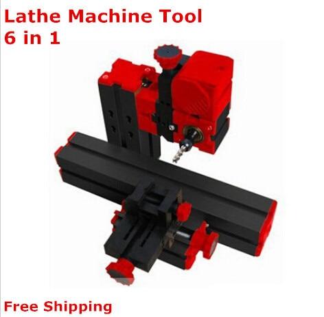On sale!1 set DIY Mini Lathe Machine 6 in 1, DIY Mini Micro Lathe Machine Tool 6 in 1,  For Wood and Soft Metal small micro beads polishing lathe cutting car beads machine mini diy woodworking turning lathe c00108