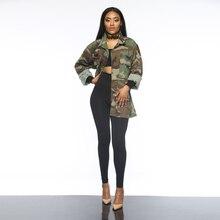 Long Camouflage Coat Women 2018 Fashion Long Sleeve New Autumn Winter Casual Button Camo Outwear Jacket Drop Shipping Outerwear