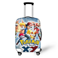 ELVISWORDS Anime Pokemon Pikachu Luggage Cover Travel Accessories Dust proof Suitcase Protective Covers Anime Travel Luggage Bag