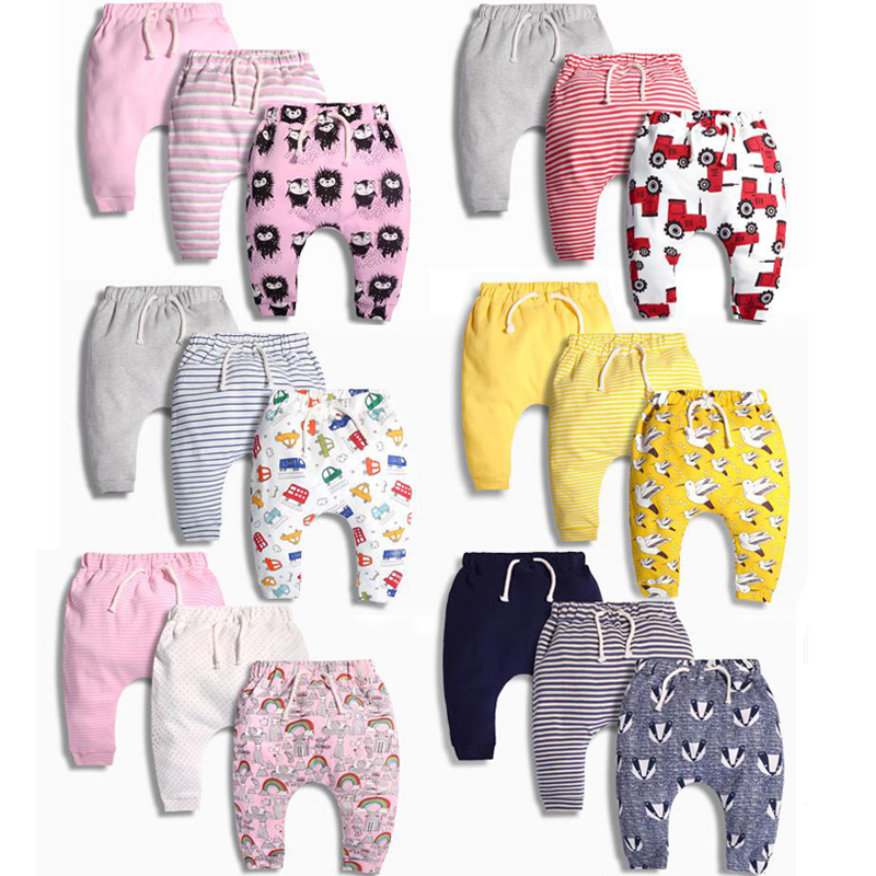 Baby Harem Pants Boys And Girls Trousers Spring And Autumn Children's Clothing Pants Children Girls Newborn 100% Cotton 3pcs/set