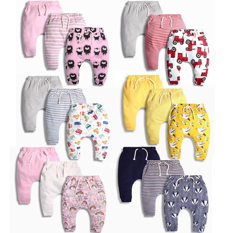 Baby Harem Pants Boys And Girls Trousers Spring And Autumn Children's Clothing Pants Children Girls Newborn 100% Cotton 3pcs/set