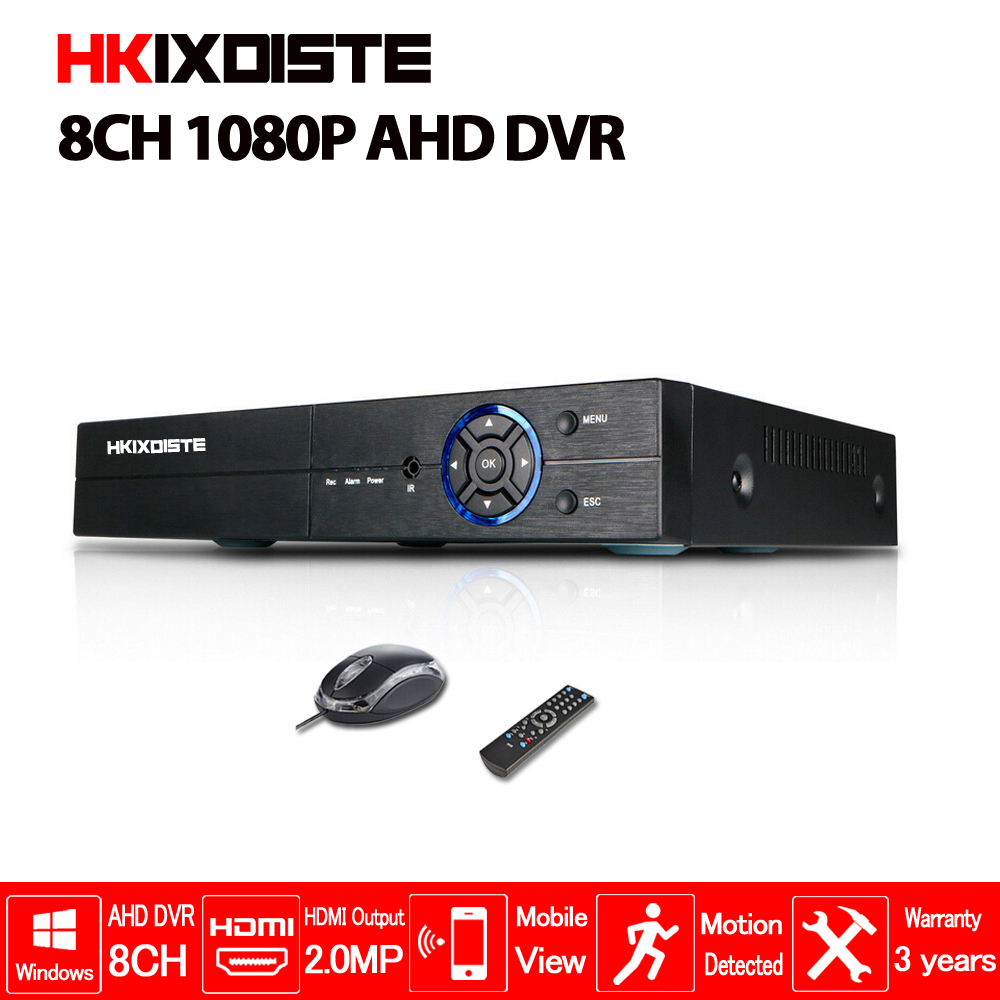 HD CCTV 1080P DVR 8ch AHD 1080P surveillance DVR NVR 8 channel AHD NH 1080P HDMI