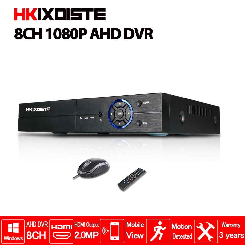 HD CCTV 1080P DVR 8ch AHD 1080P surveillance DVR NVR 8 channel AHD-NH 1080P HDMI security standalone 3G WIFI DVR video recorder