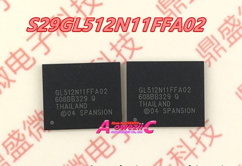 Aoweziic 100% Новый оригинальный S29GL512N11FFA02 BGA Автомобильные модификации китайский чип S29GL512N11FFA020