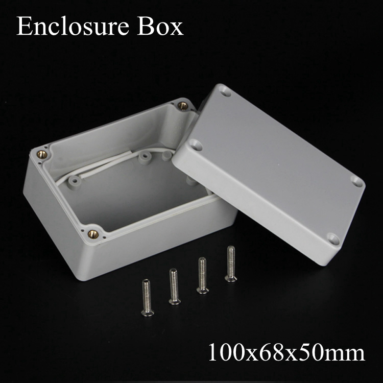 (1 piece/lot) 100*68*50mm Grey ABS Plastic IP65 Waterproof Enclosure PVC Junction Box Electronic Project Instrument Case waterproof abs plastic electronic box white case 6 size