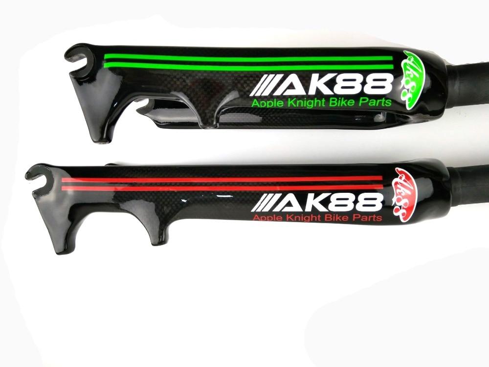 New AK88 Full carbon fiber bike parts small wheel bicycle front fork 16/20 inchNew AK88 Full carbon fiber bike parts small wheel bicycle front fork 16/20 inch