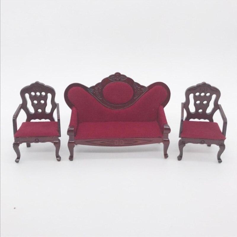 1:12 maison de poupée mini meubles miniature en bois rouge style chine-lati ob11